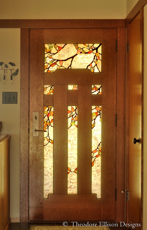 Dunsmuir Door in Quarter-Sawn White Oak by The Craftsman Door Company.