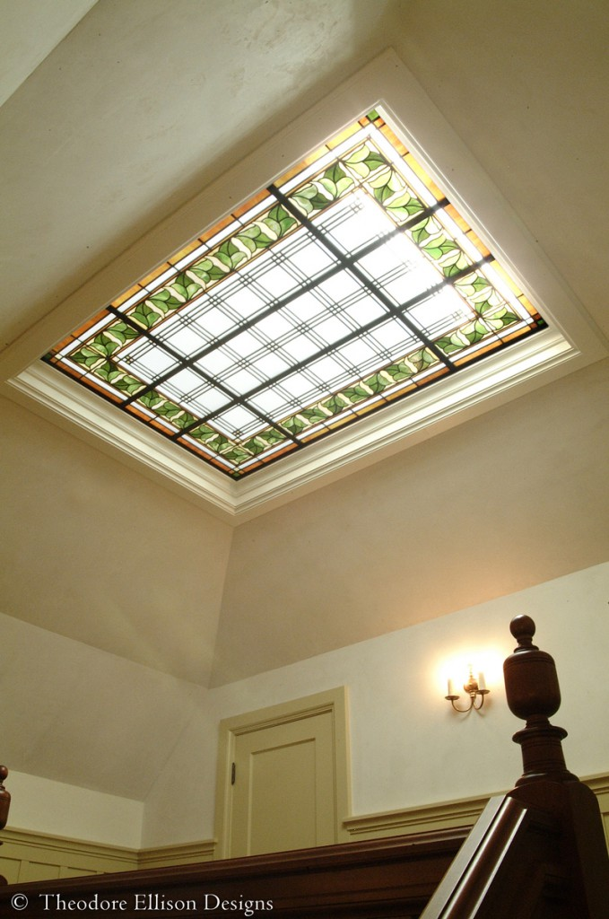 Cutom leaded glass laylight by Theodore Ellison Designs, Piedmont, California