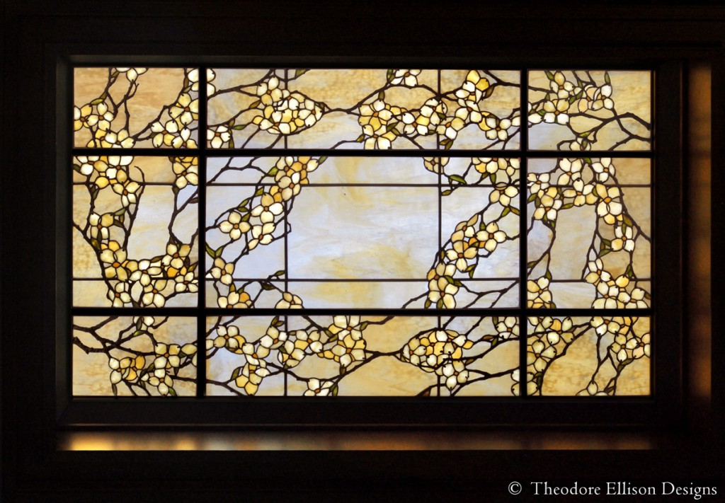 Dogwood leaded glass laylight by Theodore Ellison Designs - Dallas, Texas