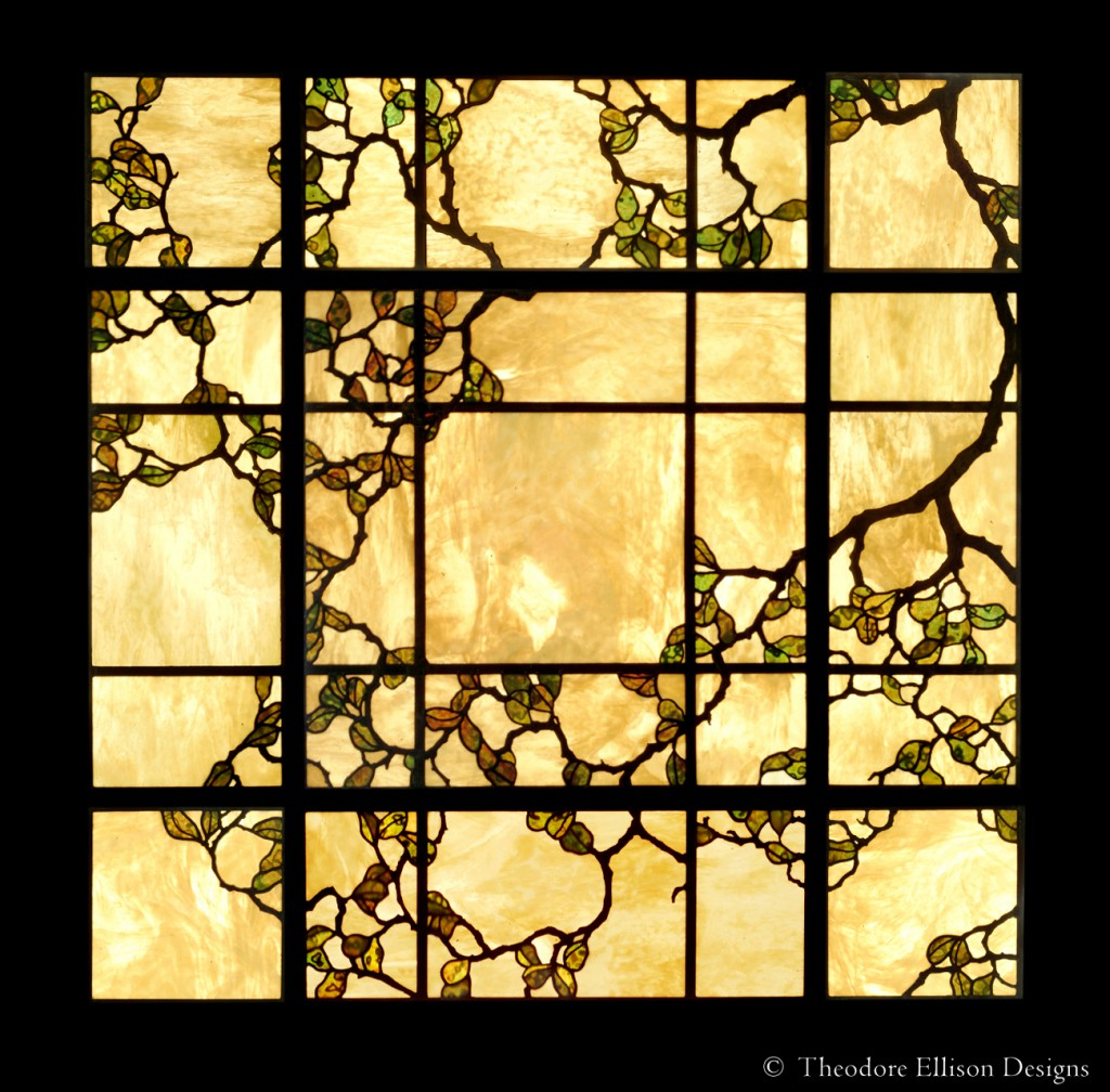 Oak Tree leaded glass laylight by Theodore Ellison Designs - Phoenix, Arizona