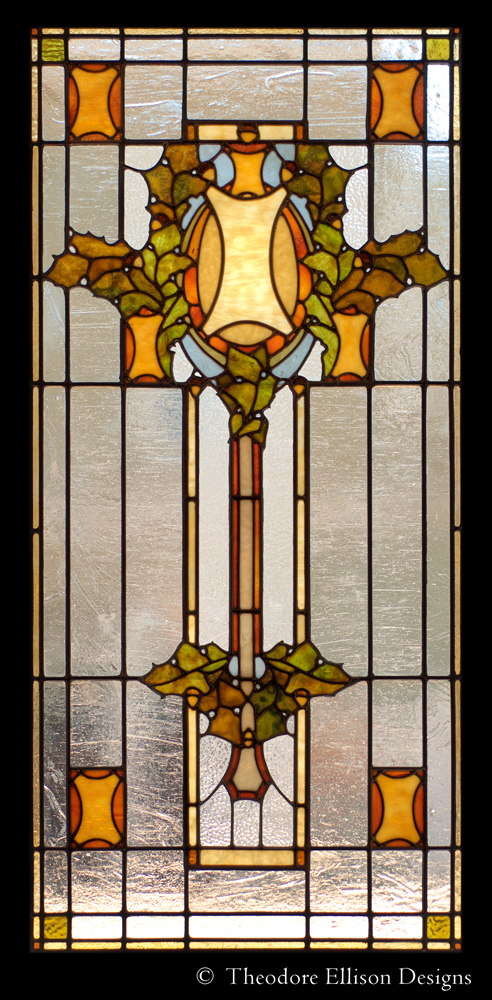 Sullivanesque leaded glass window - Theodore Ellison Designs